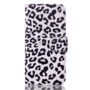 Luipaard wit iPhone 7 Portemonnee hoesje
