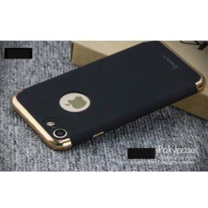 Zwarte gegalvaniseerde harde plastic cover voor de iPhone 7