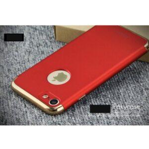 Rode gegalvaniseerde harde plastic cover voor de iPhone 7