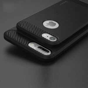 Flexibel en stevig iPhone 7 plus TPU hoesje zwart