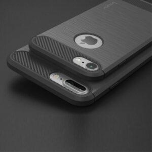 Flexibel en stevig iPhone 7 plus TPU hoesje Donker grijs (bijna zwart)