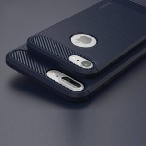 Flexibel en stevig iPhone 7 plus TPU hoesje Donker blauw (bijna zwart)