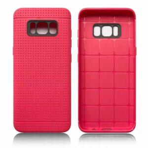 Roze met putjes flexibel hoesje voor de Samsung Galaxy S8