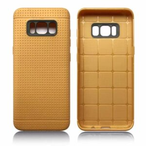 Toffee bruin met putjes flexibel hoesje voor de Samsung Galaxy S8