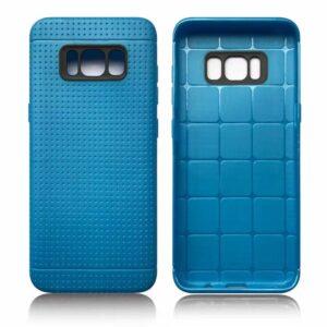 Blauw met putjes flexibel hoesje voor de Samsung Galaxy S8