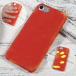 Thermo hoesje iPhone 6 PLUS Rood wordt Geel bij warmte