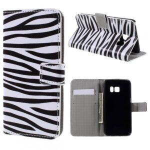 Zebra Pu leer bekleed Galaxy S7 portemonnee hoesje
