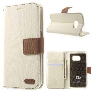 Wit PU lederen Galaxy S7 portemonnee hoesje