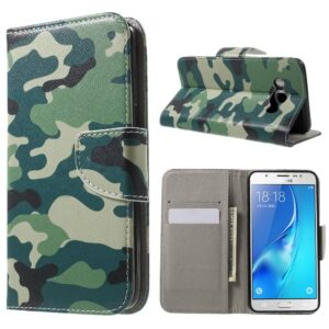Samsung Galaxy J5 portemonnee hoes Camouflage