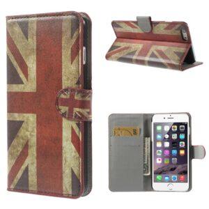 Britse vlag iPhone 6 plus portemonnee hoes