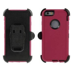 Heavy duty iPhone 6 hoes roze