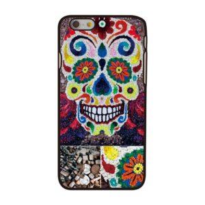 Gebloemde Skull iPhone 6 hoesje