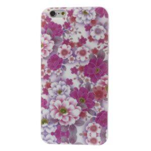 Bloemen print iPhone 6 Plus TPU hoesje