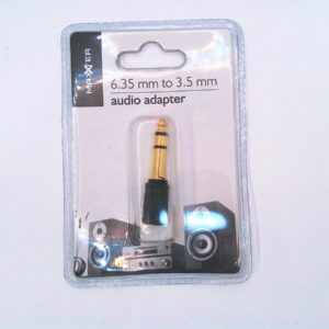 6,35 mm naar 3,5 mm audio-adapterstekker