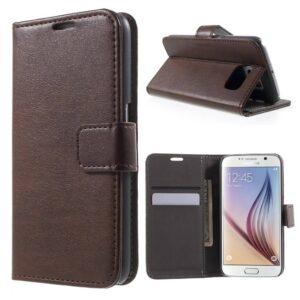 Samsung Galaxy S6 portemonnee hoesje bruin