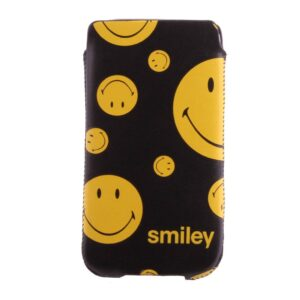 Insteek hoesje zwart met diverse maten smileys