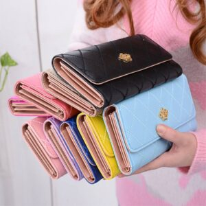 Lady Leather Crown Wallet Paars