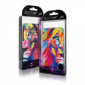 Kleurrijke leeuw iPhone 6 portemonnee hoesje