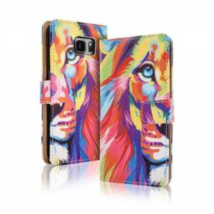 Kleurrijke leeuw iPhone 6 Plus portemonnee hoesje
