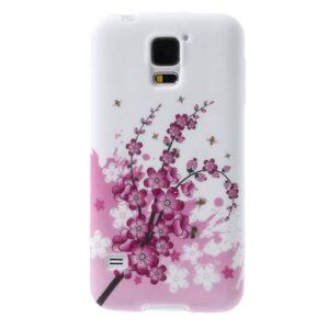 Glow in the dark bloesem TPU hoesje Galaxy S5