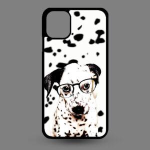 iPhone 11 Dalmatier pup met bril
