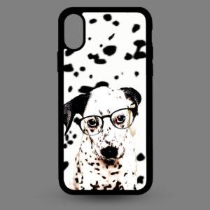 iPhone X en Xs – Dalmatier pup met bril