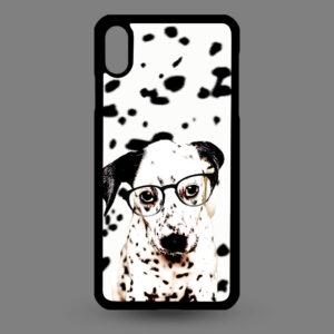 iPhone XR – Dalmatier pup met bril