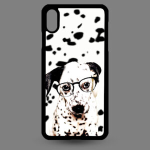 iPhone Xs MAX – Dalmatier pup met bril