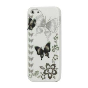 iPhone 5/5S TPU hoesje met bruine vlinders