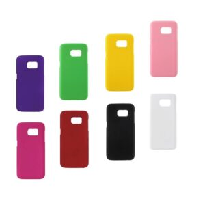Harde plastic met rubber bekleed Galaxy S7 Edge hoesje – zwart