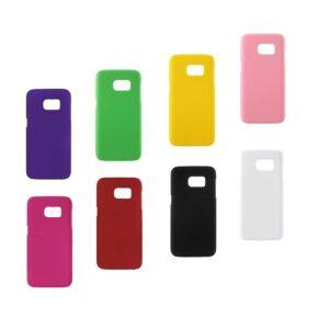 Licht Blauw Harde plastic met rubber bekleed Galaxy S7 Edge hoesje