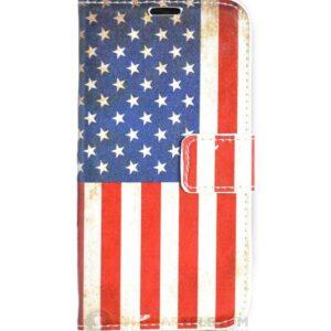 Amerikaanse vlag  portemonnee hoesje iPhone 6(S)