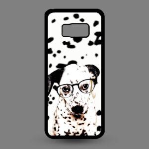 Samsung Galaxy S8+ Dalmatier pup met bril