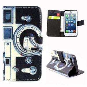 Camera stijl portemonnee hoesje iPhone SE, 5S, 5