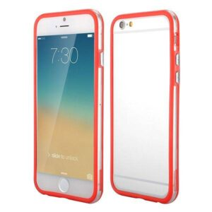 iPhone 6 bumper rood/transparant