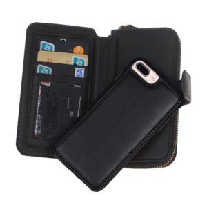 Zwarte portemonnee hoes voor de iPhone 7 en 8 PLUS