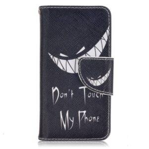 Don't touch my phone type 2 iPhone SE, 5 en 5S portemonnee hoesje