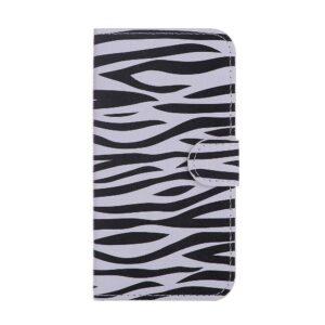 Zebra print iPhone X portemonnee hoes