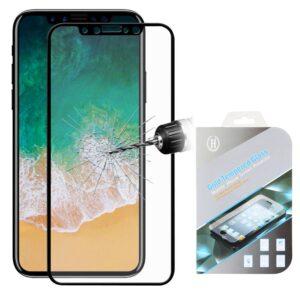 FULL COVER iPhone X tempered glass screenprotector zwart