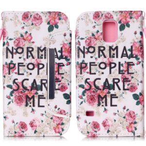 2 in 1 wallet hoesje Samsung Galaxy S5 Normal people scare me
