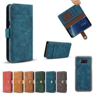 Zacht Kunstleren Samsung Note 8 portemonnee hoesje met los te maken case – Rood
