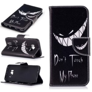 Dont touch my phone Samsung S8 PLUS portemonnee hoesje