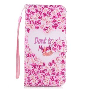 Samsung Galaxy S8 portemonnee hoesje don't touch my phone #5