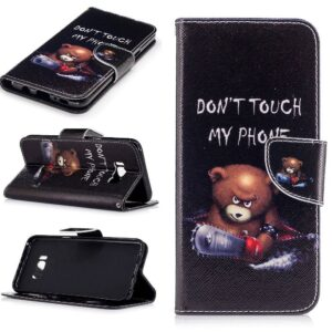 Dont touch my phone II Samsung S8 PLUS portemonnee hoesje