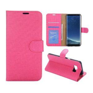 Roze pu leren Galaxy S8 PLUS portemonnee hoesje