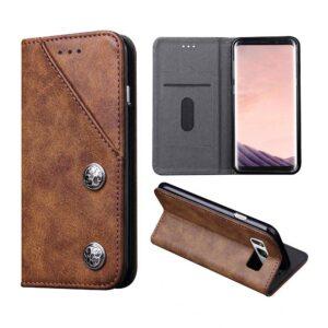 Bruin luxe afgewerkt Samsung S8 PLUS portemonnee hoesje