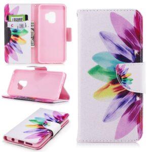 Kleurrijke bloem Samsung S9 portemonnee hoesje