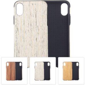 Hout patroon flexibel plastic iPhone XS MAX – Khaki