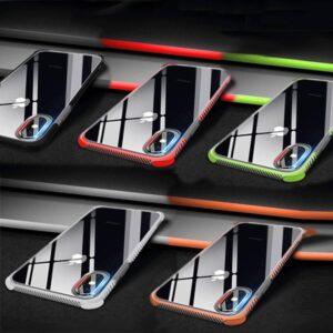 Groen met Transparant dual color zijkant flexibel iPhone XR hoesje