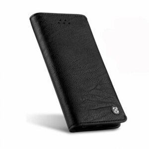 iPhone 6 plus portemonnee hoesje zwart leder